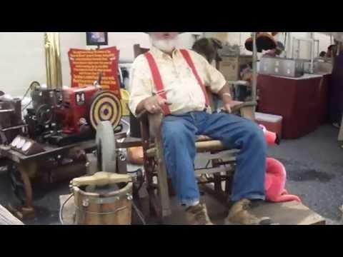 rocking chair powered ice cream maker