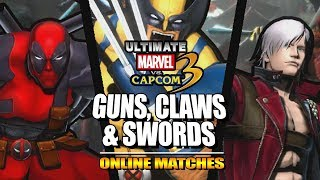 GUNS, CLAWS & SWORDS: Ultimate Marvel Vs. Capcom 3 - Online Matches