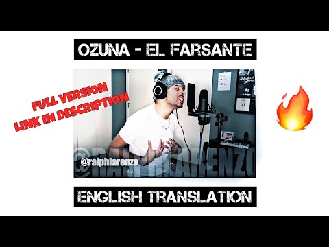 Ozuna - El Farsante (English Cover)