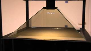 Film holograficzny 3D - rozszczepienie jądra atomu uranu