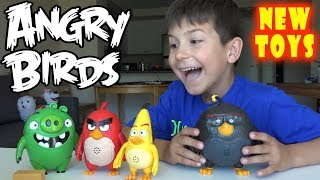 Angry Birds Evolution 4 NEW big toys Red Chuck Bomb Pig full collection on kids channel SanSanychTV