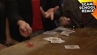 Revealing a Card with Dice When Rolled Thrice