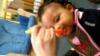 Halle Eating at Day Care