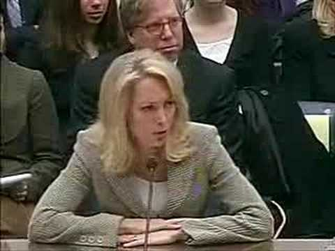 Valerie Plame testifies in CIA leak hearings (part 4)