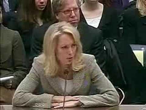 Valerie Plame testifies in CIA leak hearings (part 4)