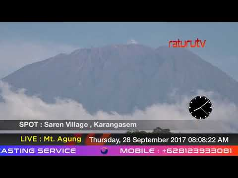 Mount Agung The volcano in Bali live real time ( Gunung Agung Recorded Version ) 28092017 - II