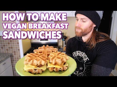 Breakfast Sandwich Recipe  (VEGAN)