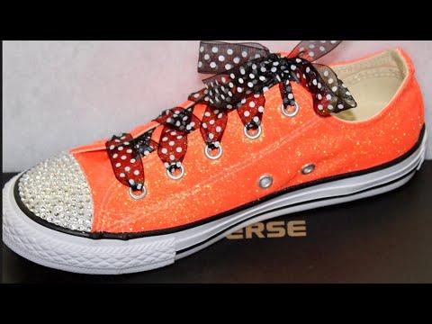 DIY Custom Glitter & Rhinestone Converse