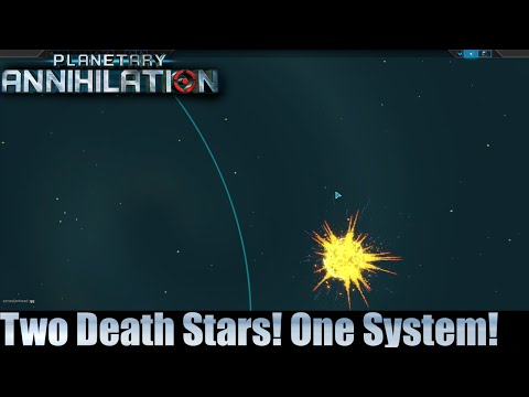 Planetary Annihilation 10 Player Free For All - Two Death Stars! One System!