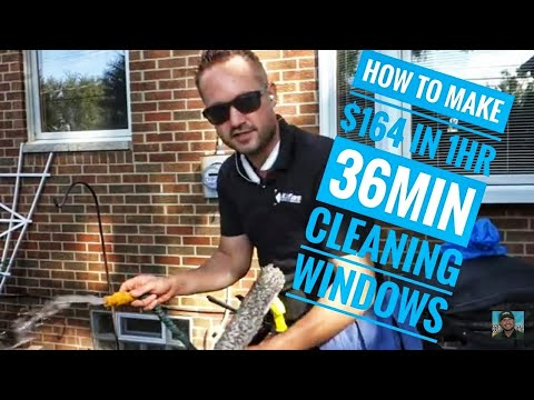 How to Make $164 in 1hr 36min. Cleaning Residential Windows