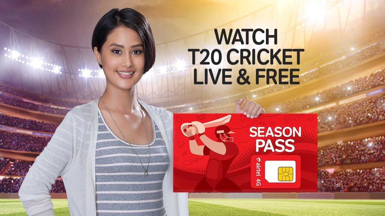 T20 Cricket Live Free Get Airtel 4g