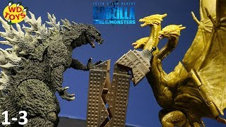 GODZILLA VS RODAN!! King Of The Monsters King Ghidorah Destroys New York City, Rodan Destroys L.A.