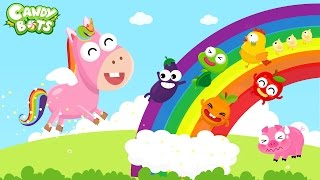 Colors for Kids (Candybots) Part 2 - Baby learn color with Animals cartoon video
