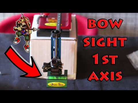 archery sight 1st AXIS leveling system by brite site
