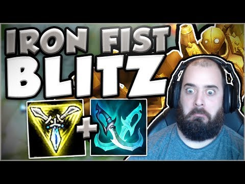 Download Youtube: WTF?? THIS IRON FIST BLITZ BUILD IS SO LETHAL IN TOP! BLITZCRANK TOP GAMEPLAY! - League of Legends