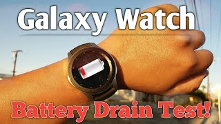 Samsung Galaxy Watch LTE BATTERY DRAIN TEST