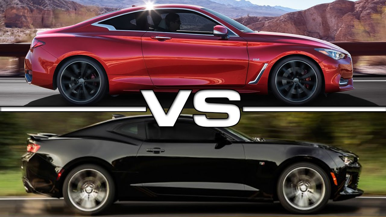 Infiniti Q60 vs Chevrolet Camaro - YouTube