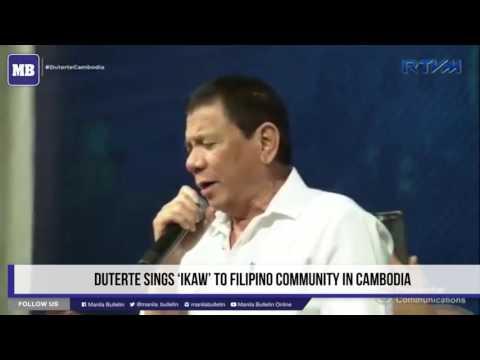 Duterte sings 'Ikaw' to Filipino community in Cambodia