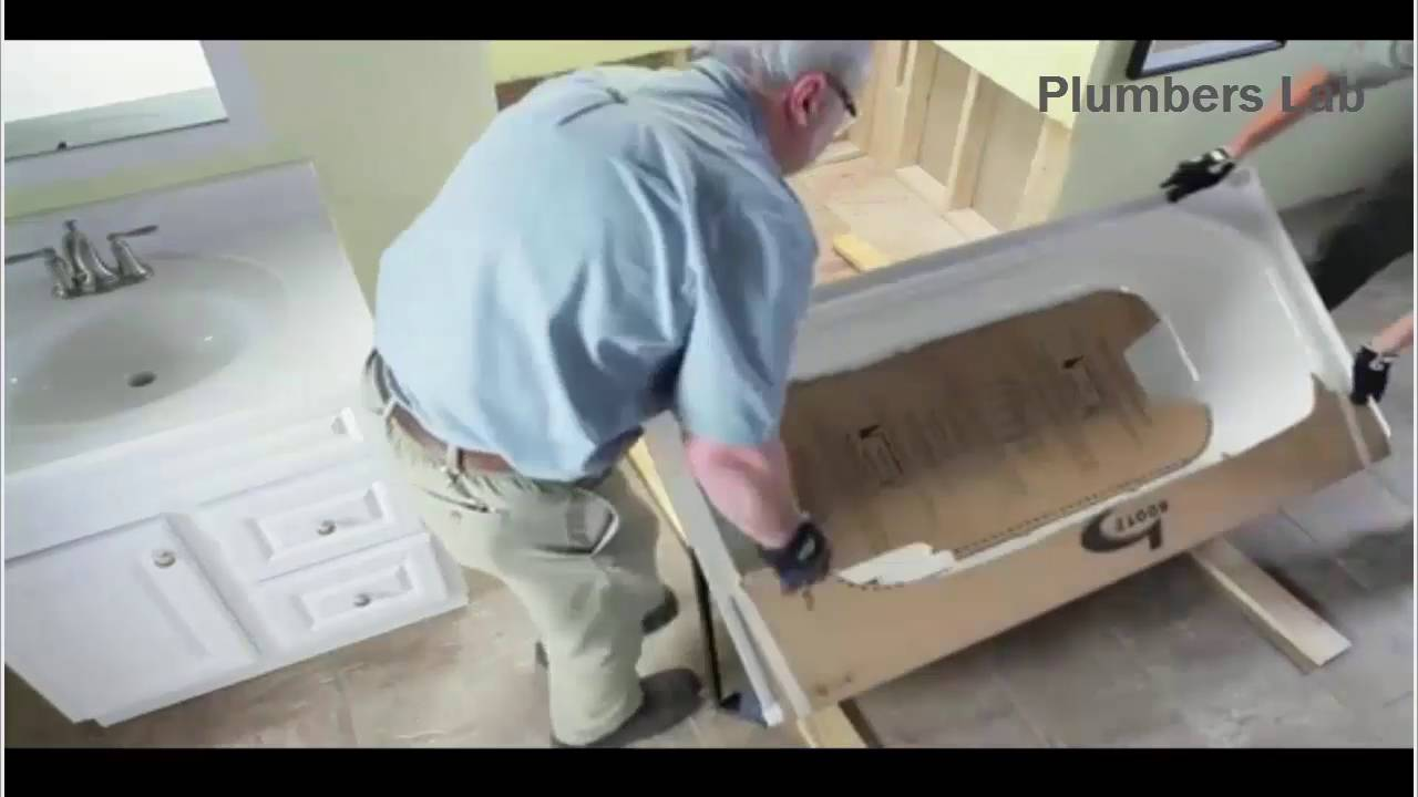 How To Install A Bathtub Step By Step Installation Process   Plumbers Lab    YouTube