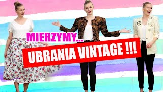 MIERZYMY UBRANIA VINTAGE | 80's 90's TRY ON
