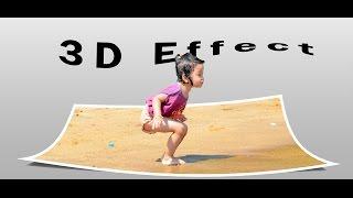 Cara Membuat Out Of Frame 3D Effect ( create a 3D Pop Up image effect) - Photoshop #7