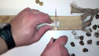 G/Sakai рез каната, сталь ATS-34 ч.1(Рез каната ножом G/Sakai, ATS-34 на клинке. Заточка из коробки., 2012-11-17T06:19:15.000Z)