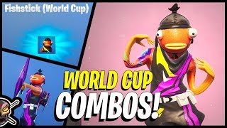 Coupe du Monde FISHSTICK à Fortnite! Combos - France Gameplay ( Comment obtenir!