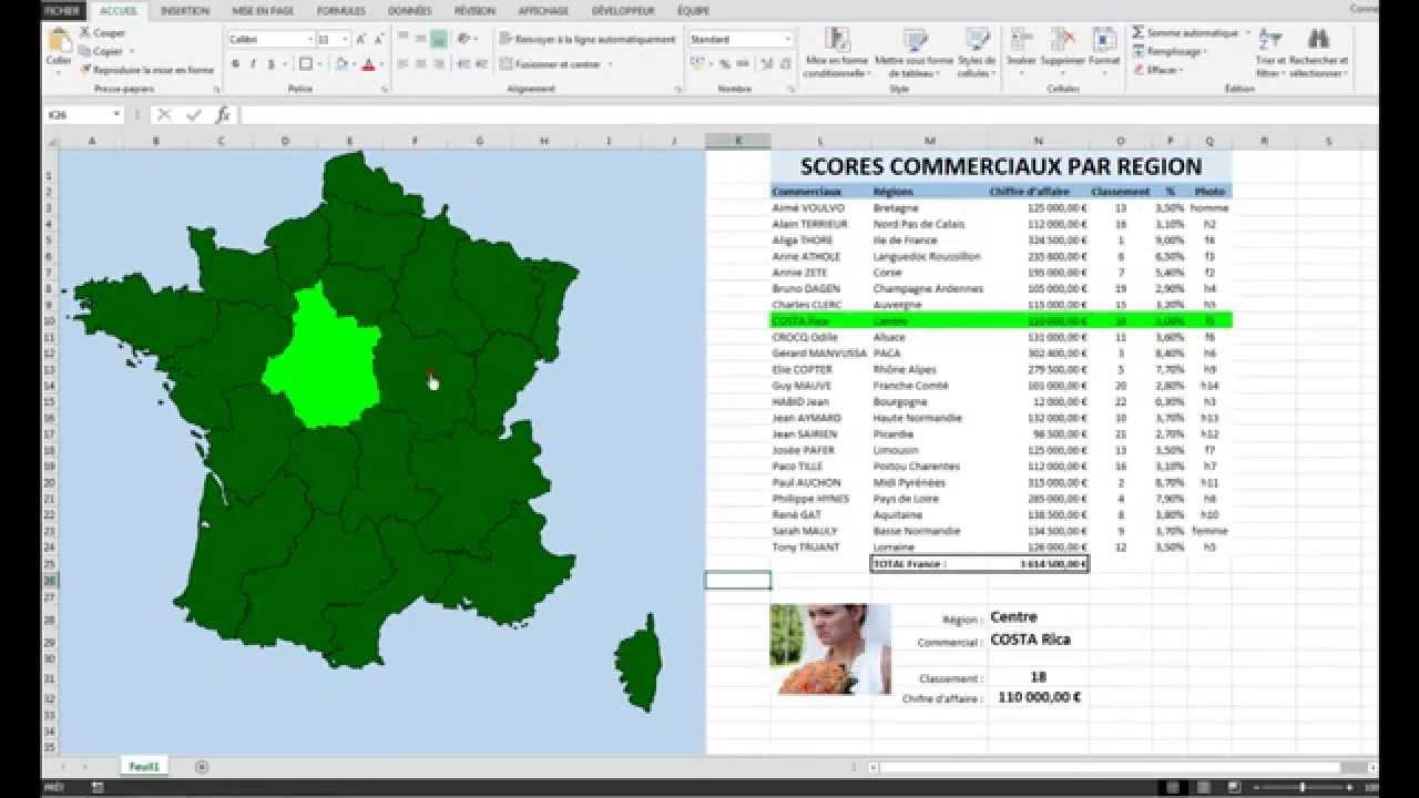 Excel Vba Carte De France Cliquable Et Interactive