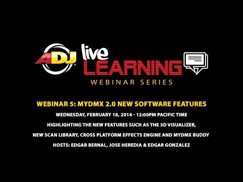 ADJ Live Learning Webinar #5: myDMX 2.0 & myDMX Buddy Software Features