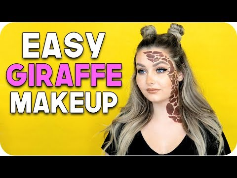 Easy Giraffe Makeup! Last Minute Costume Idea!