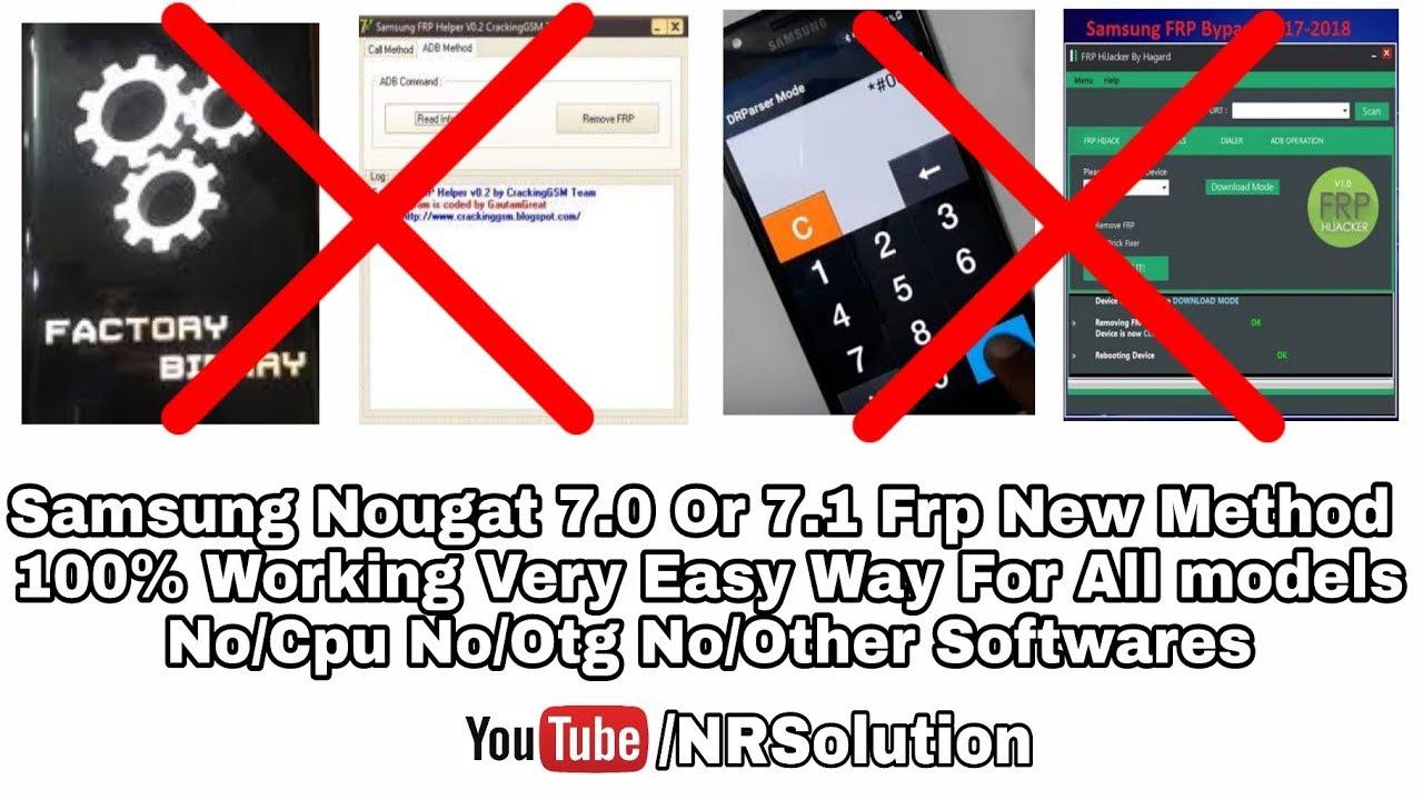 Samsung Frp Bypass Nought 7 0 - Urdu/Hindi