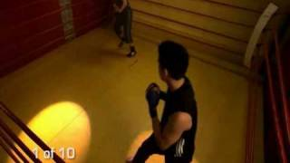 kung fu Overview of Kung Fu Workout Combinations - Front Kick, Change Level, Knee Shoot