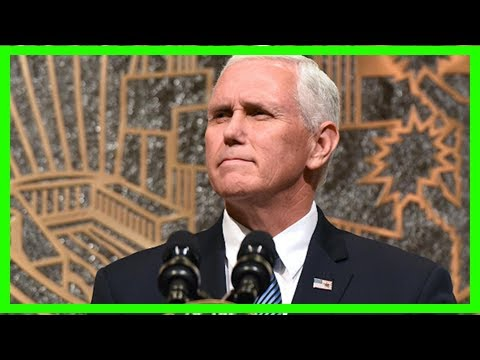 Breaking News | Pence honors fallen beirut servicemen as trump spars with soldier's widow