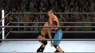 WWE 12 PC gameplay - Dolphin emulator - Randy Orton vs John Cena