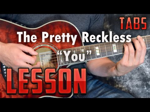 The Pretty Reckless-You-Chords and Rhythm Guitar Lesson-Easy Acoustic Songs-How to play