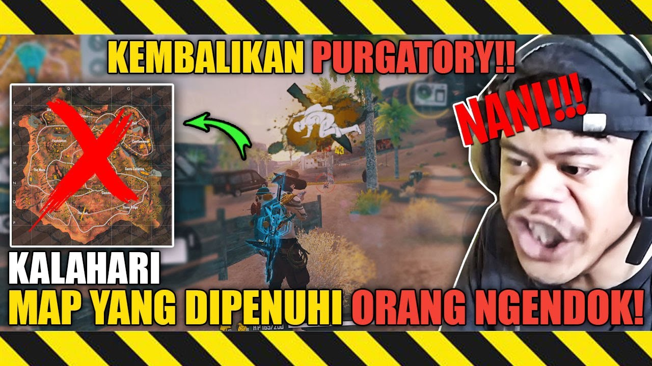 APAKAH KALIAN MENYUKAI MAP KALAHARI?? #SAVEPURGATORY - FREE FIRE