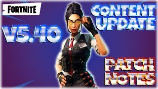 FORTNITE PvE : V.5.40 Content Update ~ Patch Notes - NEW Mythic Outlander & Wraith Assault Rifle