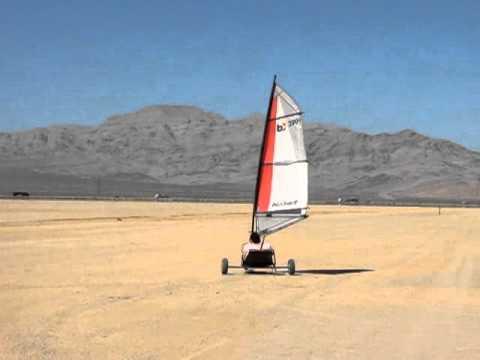 Land Sailing on the Ivanpah Dry Lake