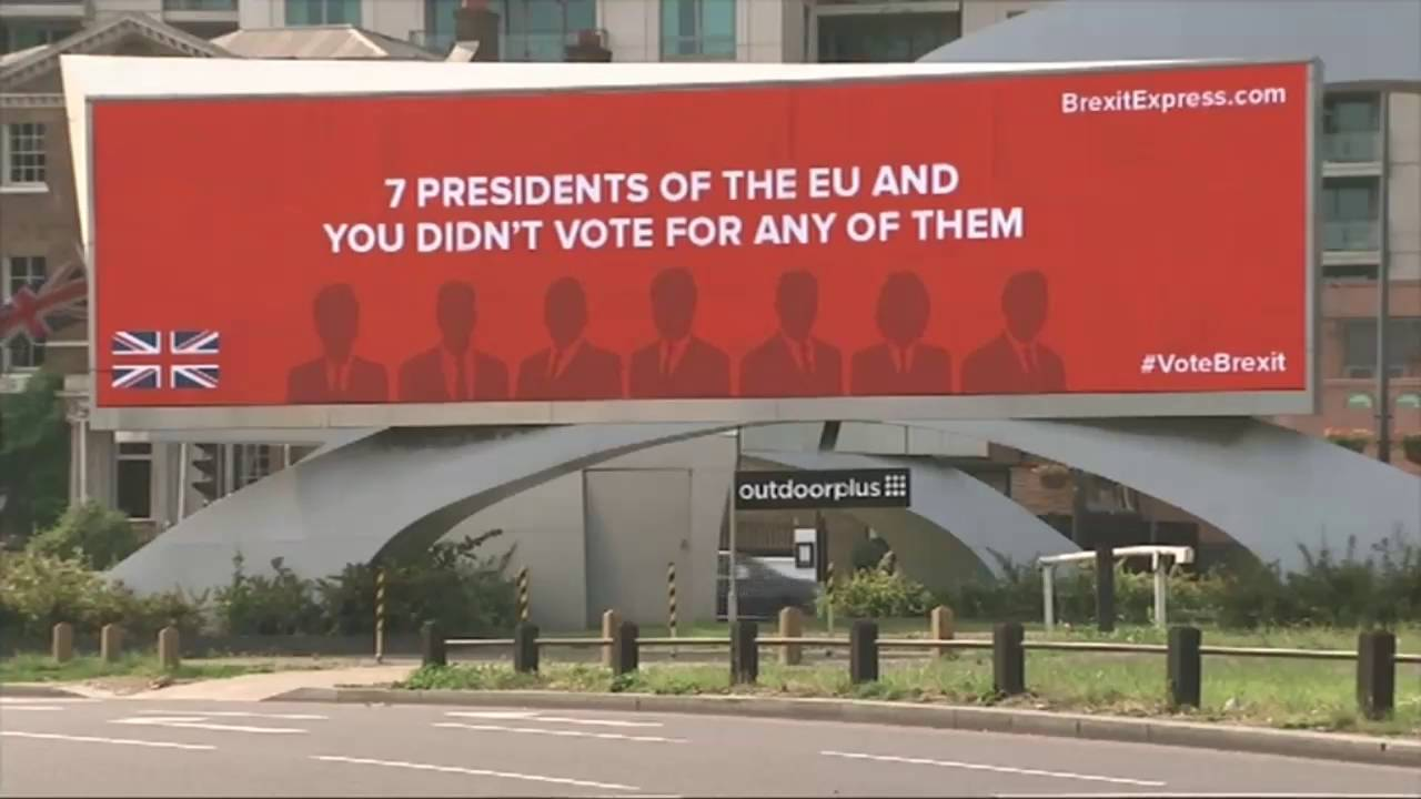 Image result for brexit express billboards