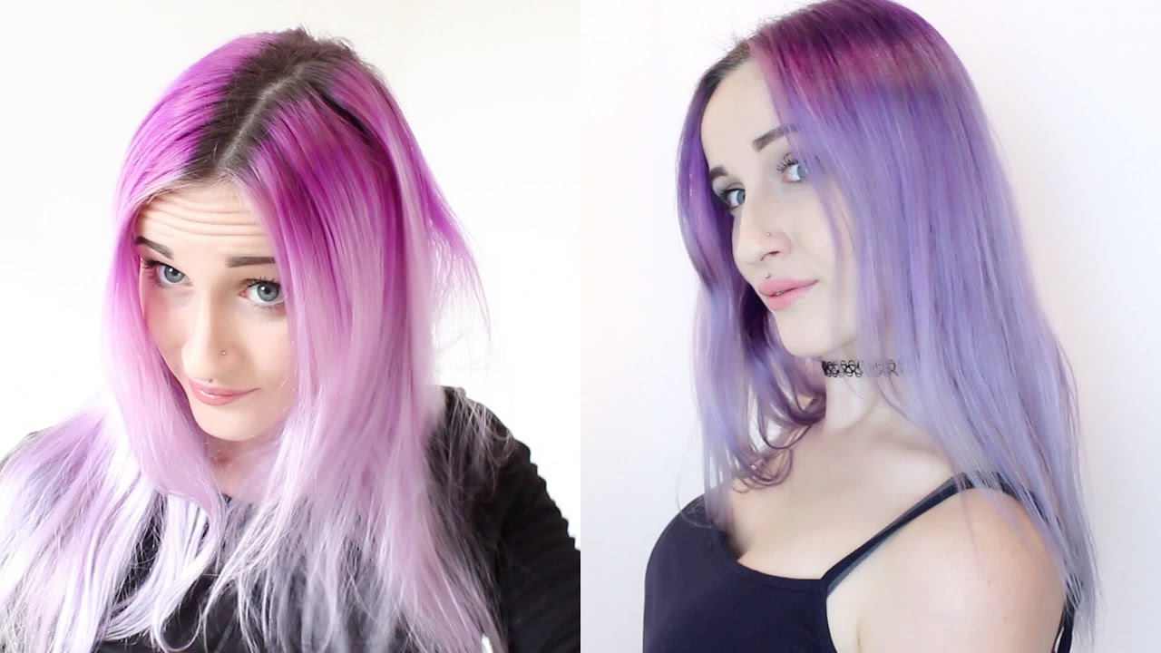 Sterling Silver Hair Dye Over Faded Purple Youtube