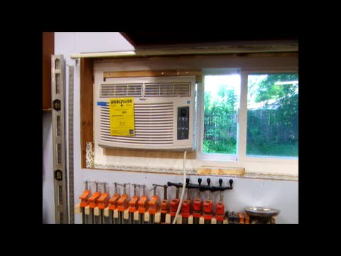 install window air conditioning ac in horzontal slider youtube. Black Bedroom Furniture Sets. Home Design Ideas