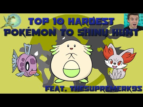 Top 10 Hardest Pokémon to Shiny Hunt (Feat. TheSupremeRk9s)