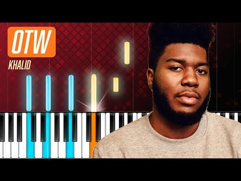 """Khalid - """"OTW""""  ft. 6LACK, Ty Dolla Sign Piano Tutorial - Chords - How To Play - Cover"""