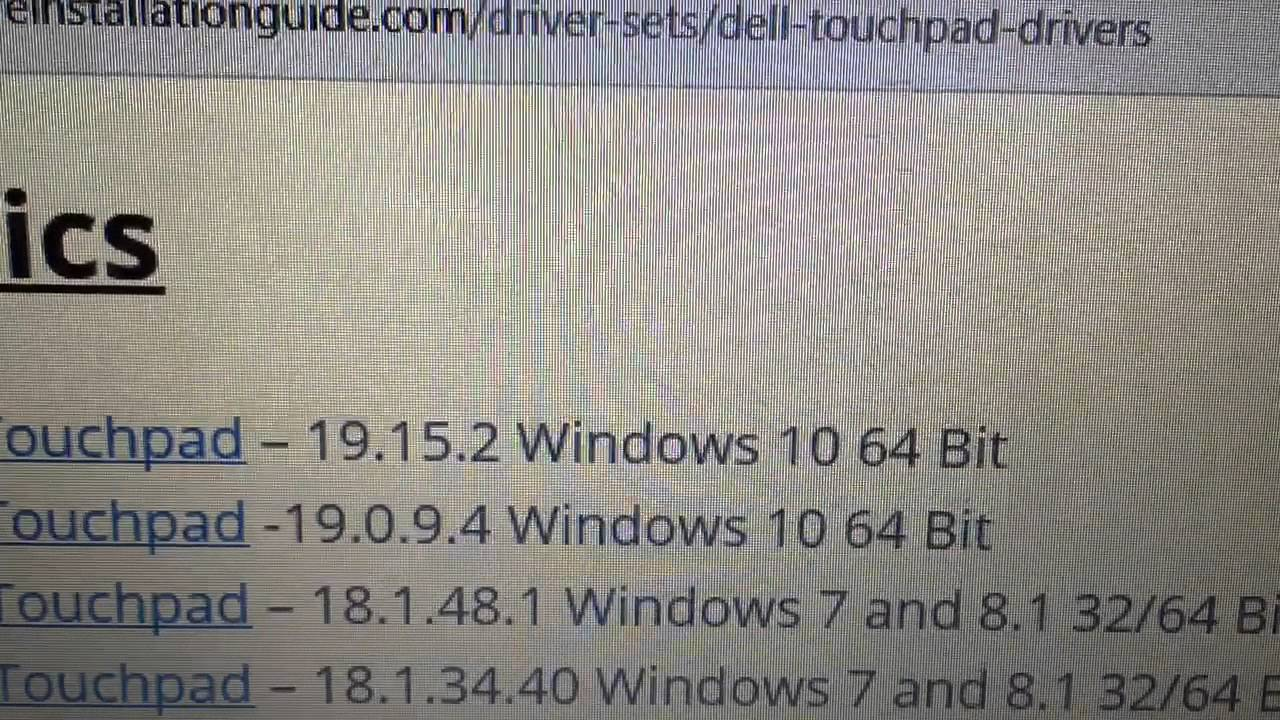 Dell Touchpad Drivers - Windows 10 Installation Guides