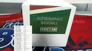 2018 Hit Parade Autographed Baseball Hobby Box Series 1 ID HPAUTOBASEBALLS107