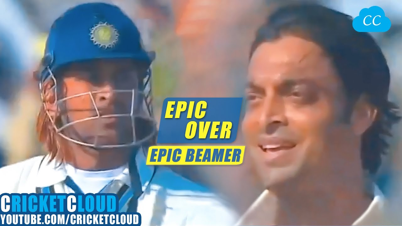 Download MS Dhoni vs Shoaib Akhtar   EPIC OVER   Fire vs Fire   Beamer at 156 kph   INDvPAK 2006 !!