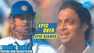 MS Dhoni vs Shoaib Akhtar | EPIC OVER | Fire vs Fire | Beamer at 156 kph | INDvPAK 2006 !!