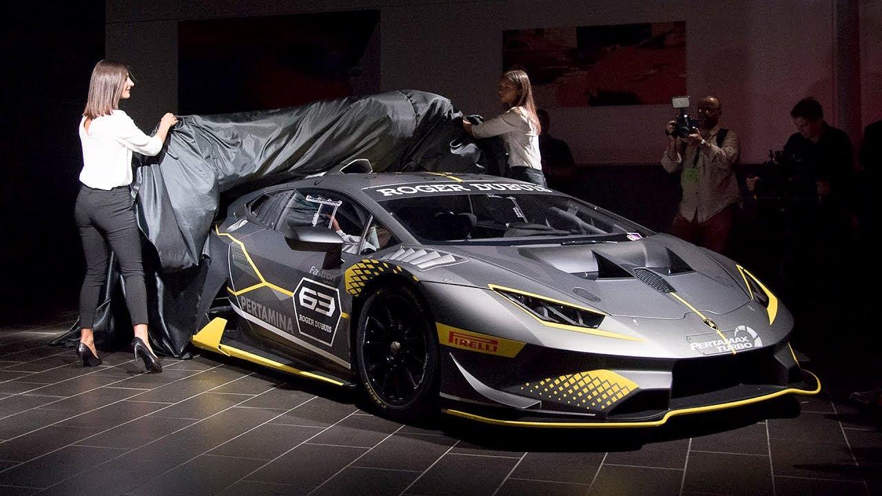 2018 Lamborghini Huracan Super Trofeo Evo Reveal Highlights Youtube