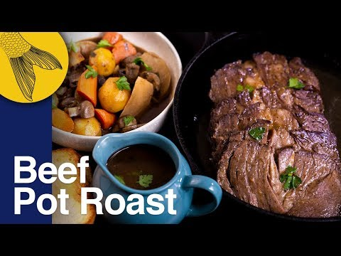 Beef Pot Roast—Christmas Special Anglo-Indian Recipe—Slow-Cooked Beef Chuck Roast