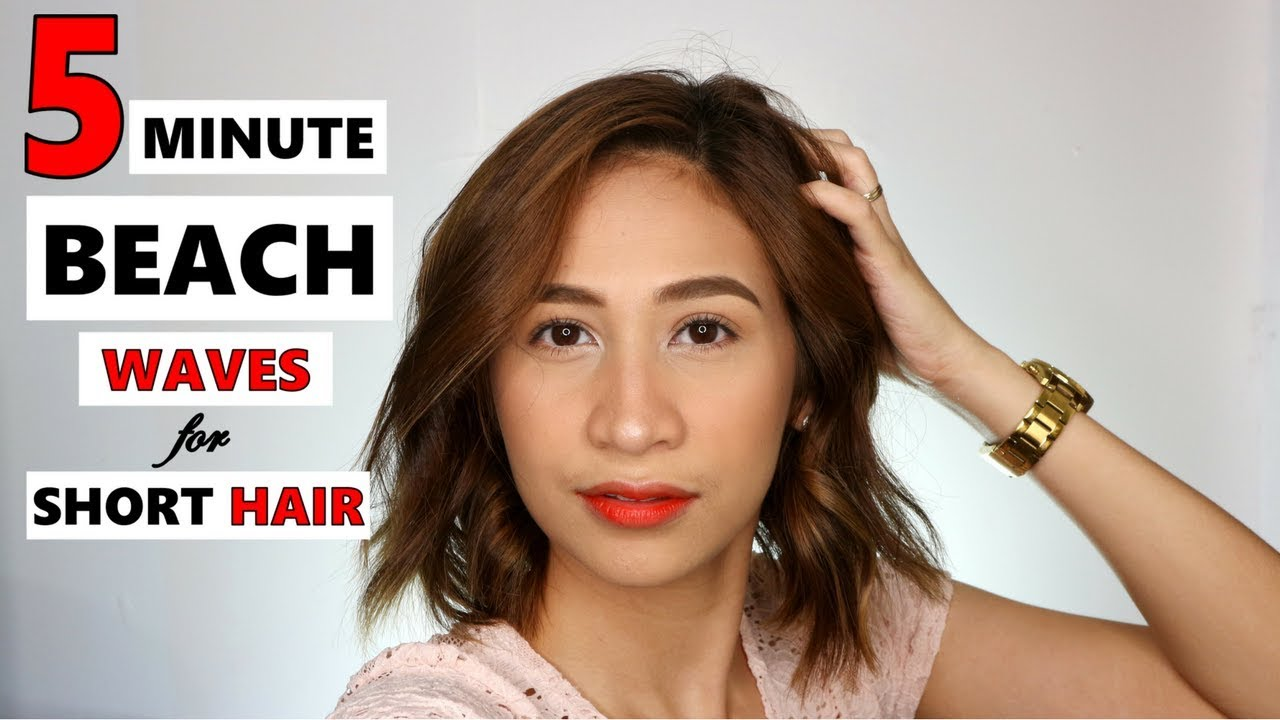 How To Beach Waves For Short Hair With Flat Iron How To